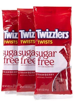 Twizzlers Sugarfree Strawberry Twists Bags 12 Box Candy Favorites